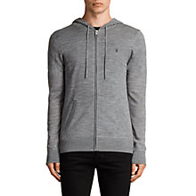 Buy AllSaints Mode Merino Wool Zip Up Hoodie Online at johnlewis.com