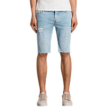 Buy AllSaints Donahue Switch Denim Shorts, Indigo Blue Online at johnlewis.com
