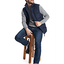 Buy Joules Bram Padded Men's Gilet Jacket, Navy Online at johnlewis.com