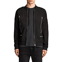 Buy AllSaints Ren Sheep Leather Bomber, Black Online at johnlewis.com