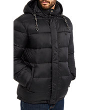 Buy Joules Brampton Padded Jacket, Coal Online at johnlewis.com