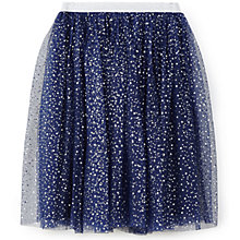 Buy Yumi Girl Star Foil Tutu Skirt, Navy Online at johnlewis.com