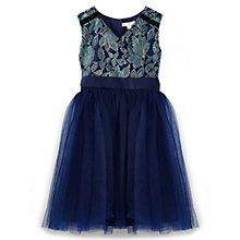 Buy Yumi Girl Metallic Lace Bow Prom Dress, Navy Online at johnlewis.com