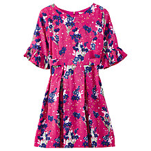 Buy Yumi Girl Botanical Star Garden Dress, Fuschia Online at johnlewis.com