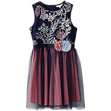 Buy Yumi Girl Organza Dress, Navy Online at johnlewis.com