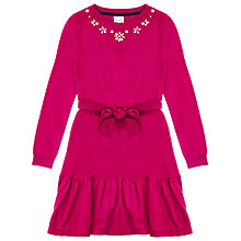 Buy Yumi Girl Embellished Peplum Dress, Fuschia Online at johnlewis.com