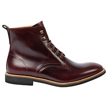 Buy Paul Smith Hamilton Lace Up Leather Boots, Burgundy Online at johnlewis.com