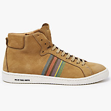 Buy PS by Paul Smith Kim Hazlenut Hi-Top Trainers, Hazelnut Brown Online at johnlewis.com
