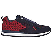 Buy Paul Smith Rappid Lace Up Trainers, Dark Navy/Red Online at johnlewis.com