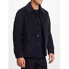 Buy JOHN LEWIS & Co. Corduroy Workwear Jacket, Navy Online at johnlewis.com