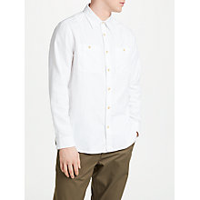 Buy JOHN LEWIS & Co. Micro Spun Oxford Shirt, White Online at johnlewis.com