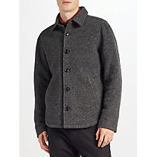 Buy Kin by John Lewis Boucle Workwear Jacket, Grey Online at johnlewis.com
