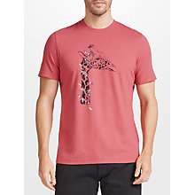 Buy John Lewis Christmas Light Giraffe T-Shirt, Red Online at johnlewis.com