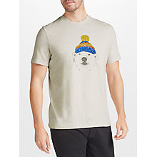 Buy John Lewis Polar Bear Beanie Print T-Shirt, Oatmeal Online at johnlewis.com