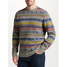 Buy John Lewis Fairisle Crew Neck Jumper, Grey Online at johnlewis.com