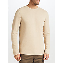 Buy John Lewis Waffle Knit Top, Oatmeal Online at johnlewis.com