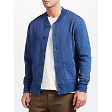 Buy JOHN LEWIS & Co. Cotton Sweat Jacket, Indigo Online at johnlewis.com