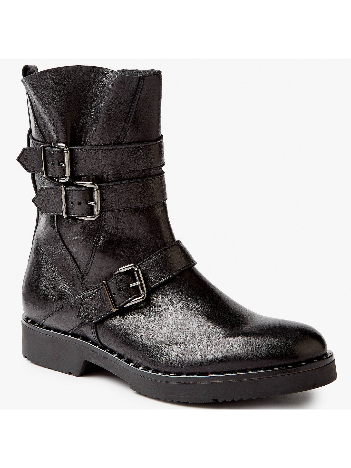 BuySomerset by Alice Temperley Priston Biker Boots, Black, 4 Online at johnlewis.com