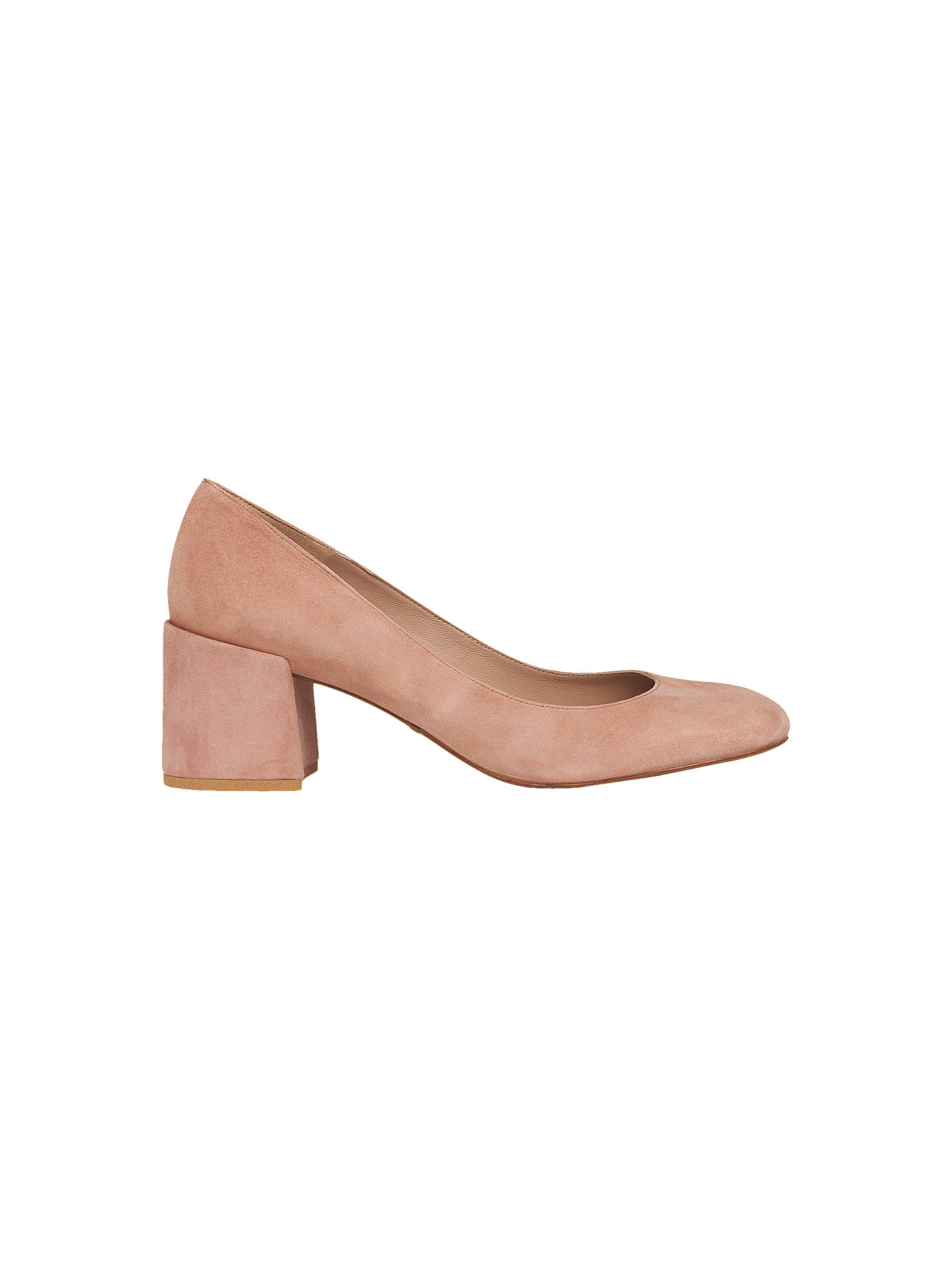 633750a6a35c Whistles Esther Block Heeled Court Shoes at John Lewis   Partners