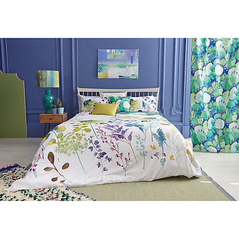 Buy Bluebellgray Botanical Print Cotton Duvet Cover And