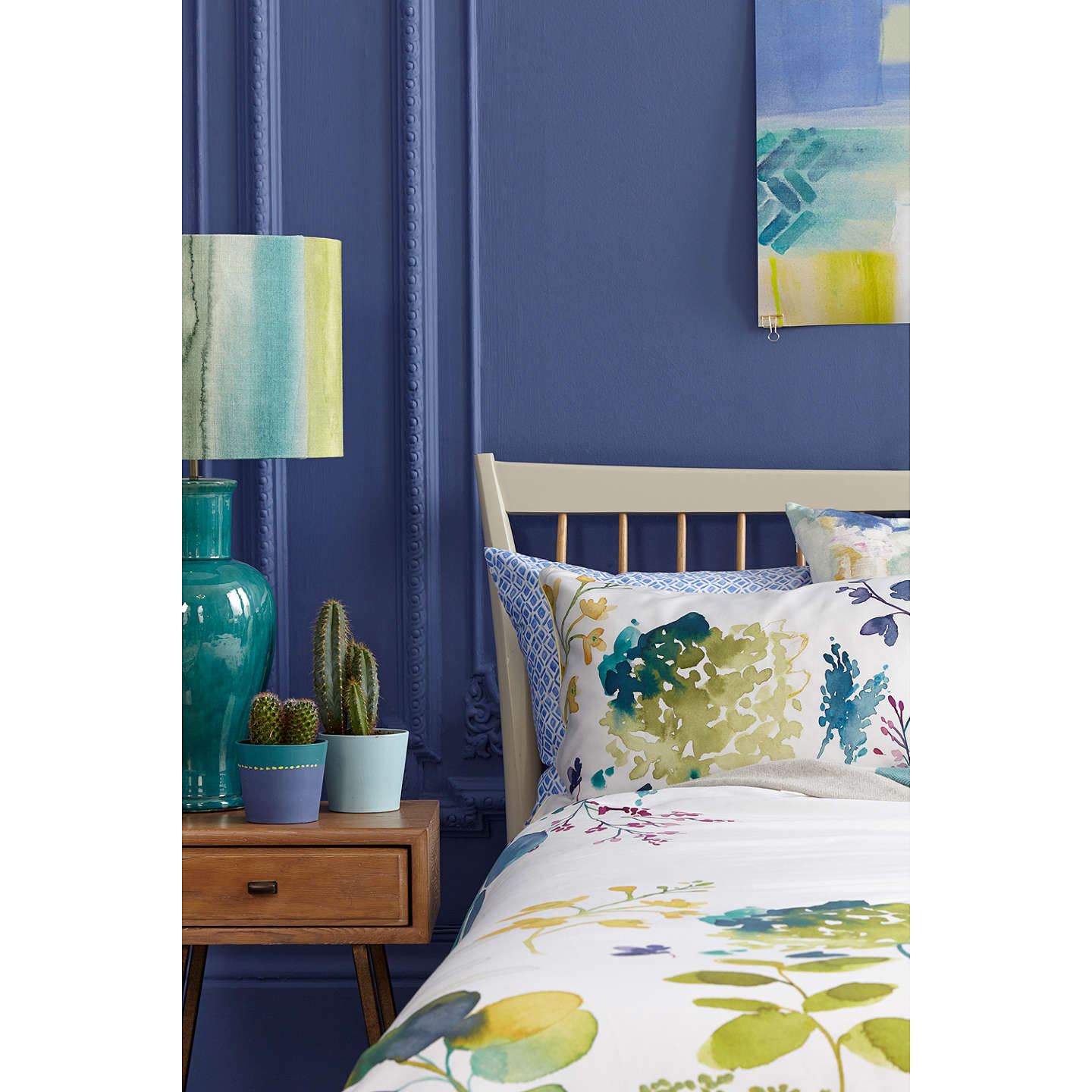 Buybluebellgray Botanical Print Cotton Standard Pillowcase Online at johnlewis.com