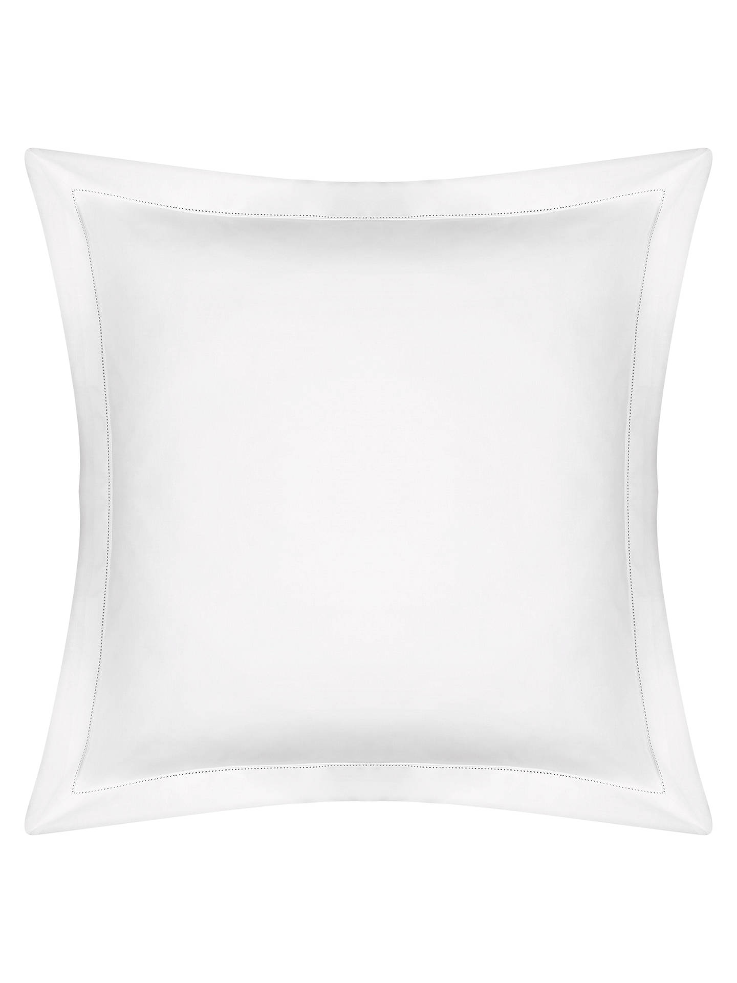 BuyPeter Reed Linen Blend Hem Stitch Square Pillowcase Online at johnlewis.com
