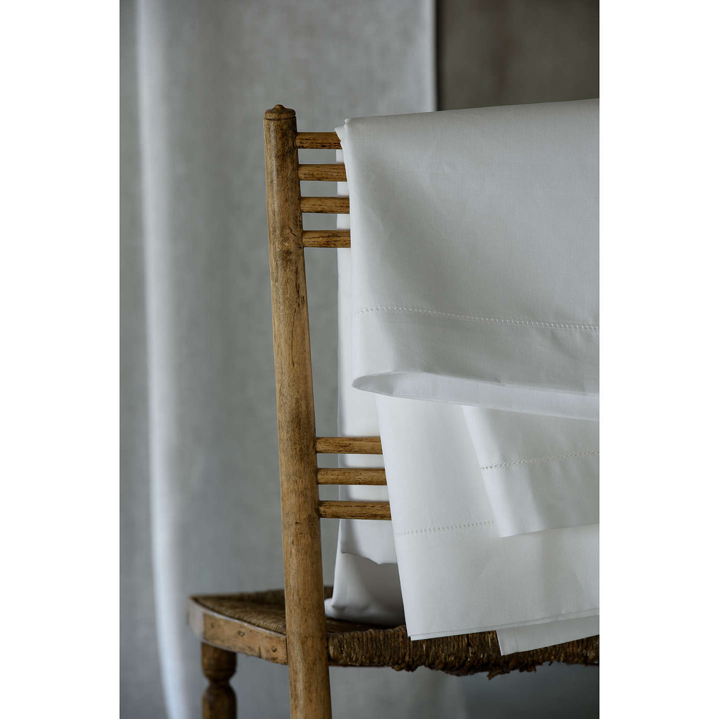 BuyPeter Reed Linen Blend Hem Stitch Standard Pillowcase Online at johnlewis.com