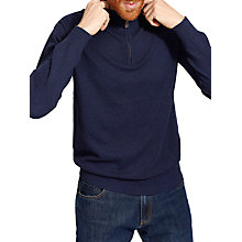 Buy Joules Hillside Zip Jumper, French Navy Online at johnlewis.com