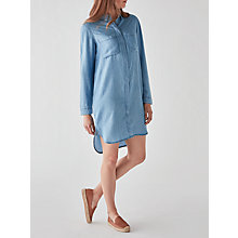 Buy Pieces Why Denim Shirt Dress, Light Blue Denim Online at johnlewis.com