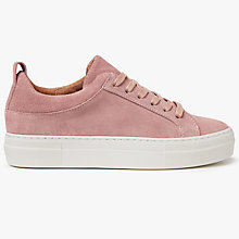 Buy Pieces Paulina Suede Trainers, Ash Rose Online at johnlewis.com