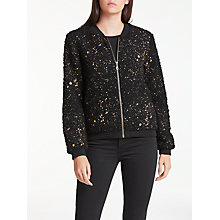 Buy Numph Millbrae Bomber Jacket, Caviar Online at johnlewis.com