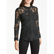 Buy Numph Palmspring Lace Shirt, Caviar Online at johnlewis.com