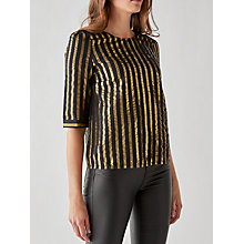 Buy Des Petits Hauts Valini Metallic Stripe Top, Rayures Online at johnlewis.com