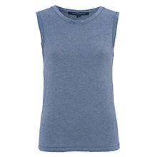 Buy French Connection Marley Jersey Vest, Blue Grey Melange Online at johnlewis.com