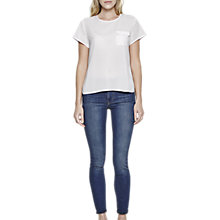Buy French Connection Polly Plains Short Sleeve Pocket T-Shirt, Summer White Online at johnlewis.com