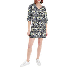 Buy French Connection Lala Palm Print Tunic Dress, Tribal Green/Multi Online at johnlewis.com