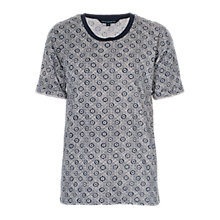 Buy French Connection Medina Tile Print T-Shirt, Nocturnal/Multi Online at johnlewis.com