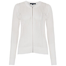 Buy French Connection Puku Pointelle Zip Through Cardigan, Summer White Online at johnlewis.com