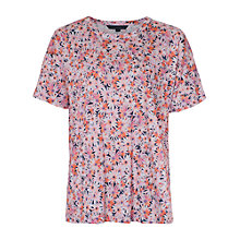 Buy French Connection Bacongo Daisy Jersey T-Shirt, Fizi Pink/Multi Online at johnlewis.com