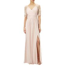 Buy Adrianna Papell Stretch Sequin And Tulle Gown, Blush Online at johnlewis.com