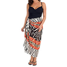 Buy Chesca Zebra Print Wrap, Black/White Online at johnlewis.com