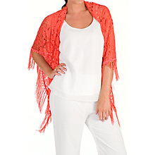 Buy Chesca Floral Lace Shawl Online at johnlewis.com