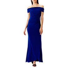 Buy Coast Shay Jersey Bardot Maxi Dress, Cobalt Blue Online at johnlewis.com