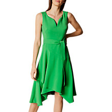 Buy Karen Millen Fluid Day Dress, Green Online at johnlewis.com