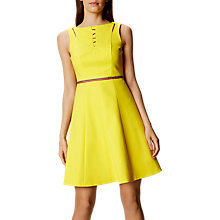 Buy Karen Millen 24 Hour Cotton Dress, Yellow Online at johnlewis.com