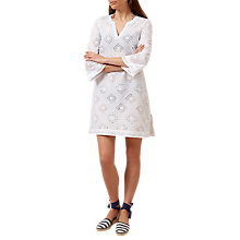 Buy Hobbs Esther Kaftan, White Online at johnlewis.com