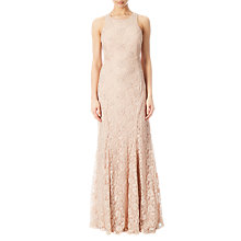 Buy Adrianna Papell Halter Neck Beaded Gown, Blush Online at johnlewis.com