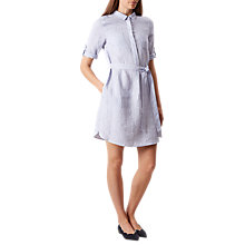 Buy Hobbs Izzy Linen Shirt Dress, Blue Stripe Online at johnlewis.com