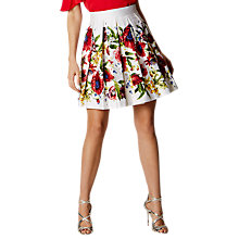 Buy Karen Millen Botanical Bloom Skirt, White/Multi Online at johnlewis.com