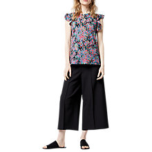 Buy Warehouse Flower Burst Woven Front Top, Multi Online at johnlewis.com